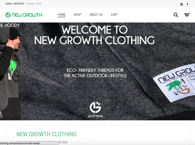Home Page of Newgrowthclothing.com