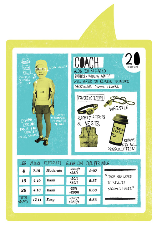 Hood To Coast Character Card. Coach.