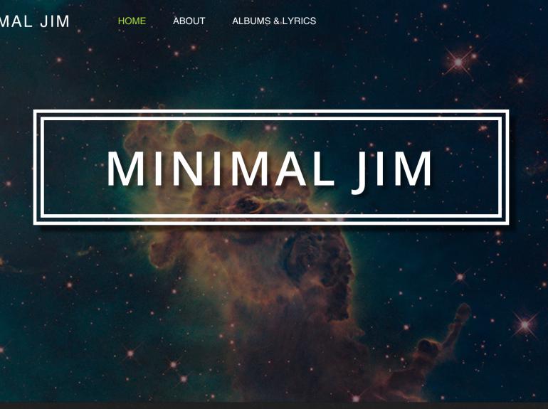 Minimal Jim Home page