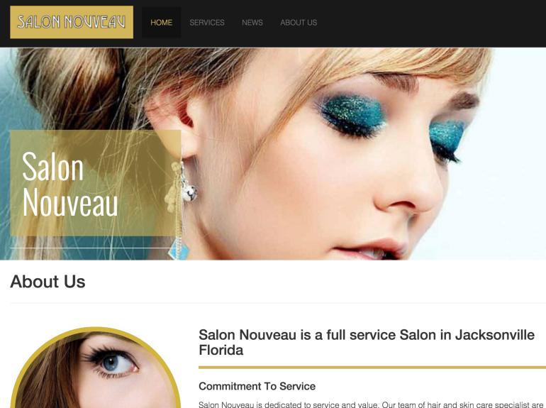 Front page of SalonNouveauOp.com